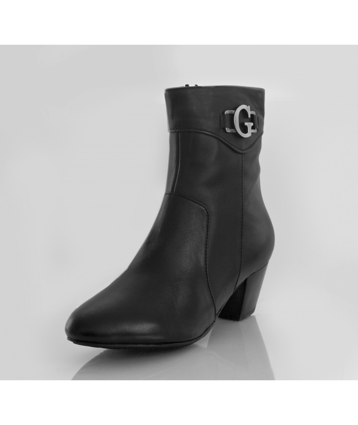 Galina Brown Ankle Boots with Heels - Petite Peds