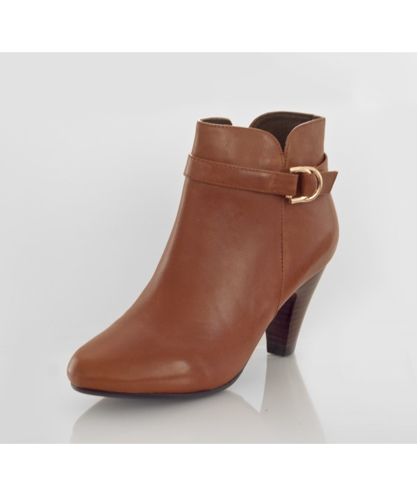 Brown Ankle Boots with Heels