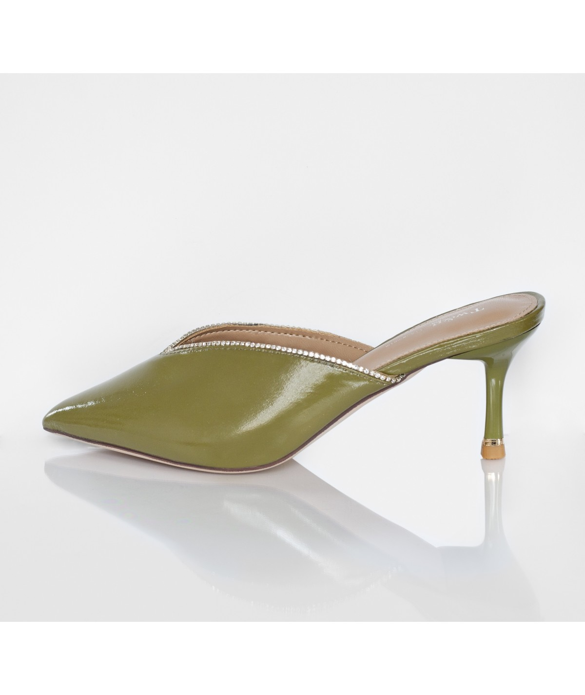 Margerita Green slip Ones With Heels