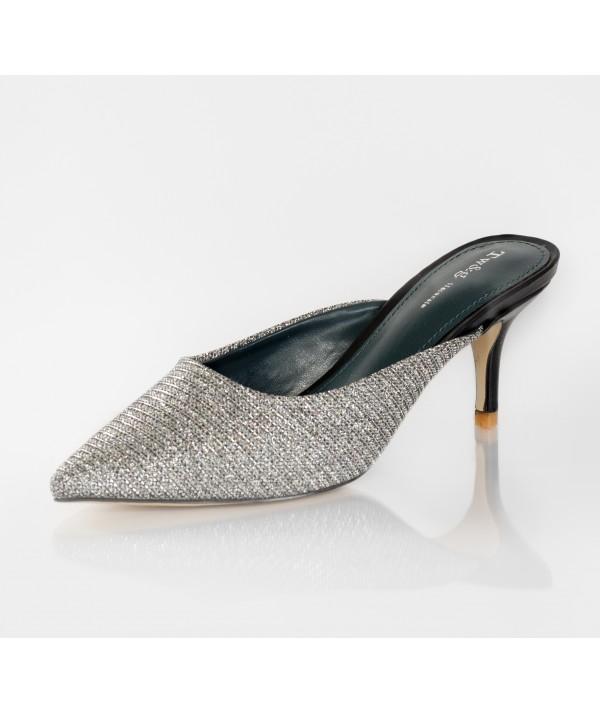 Black Slipons with Small Heels