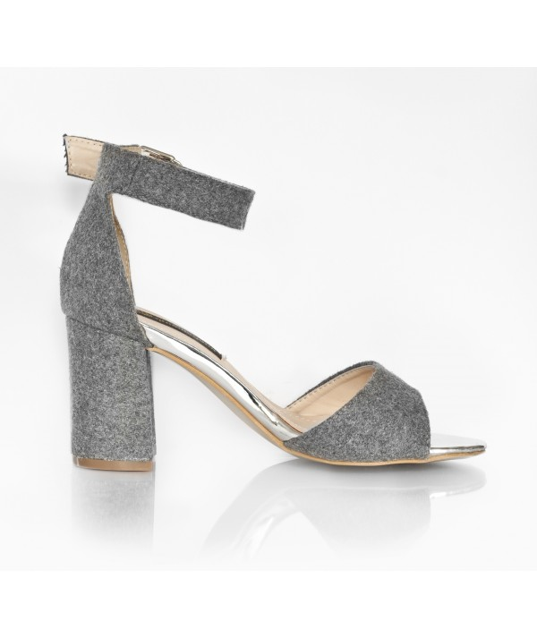42b14835780f Grey Fur Sandals - Petite Peds Color Grey Material Suede Size 34 ...