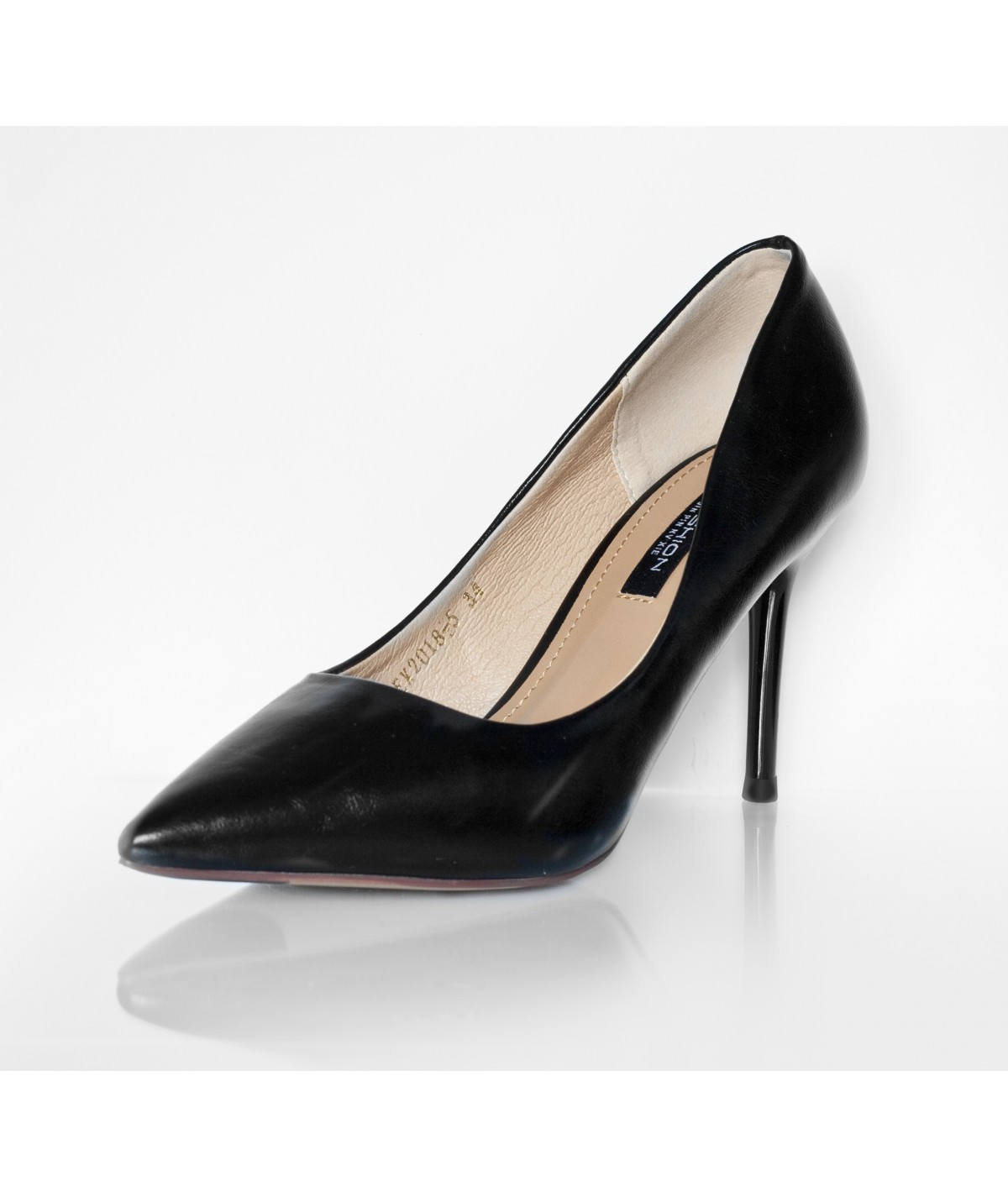 High Heels Black Leather - Petite Peds