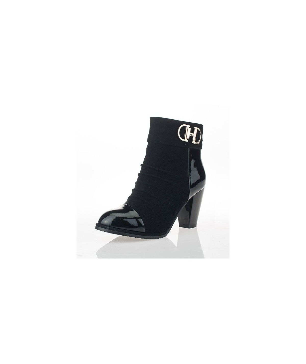Black Ankle Boots for Petites - Chloe
