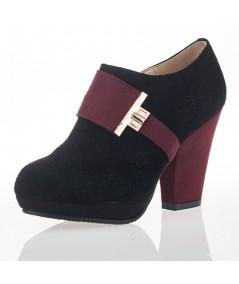 Kiera Maroon Ankle-boots