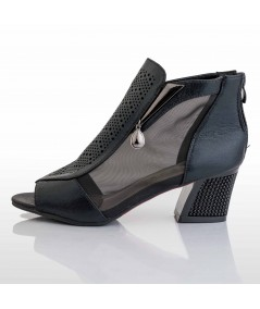 Patent Leather Textured Ankle Boots