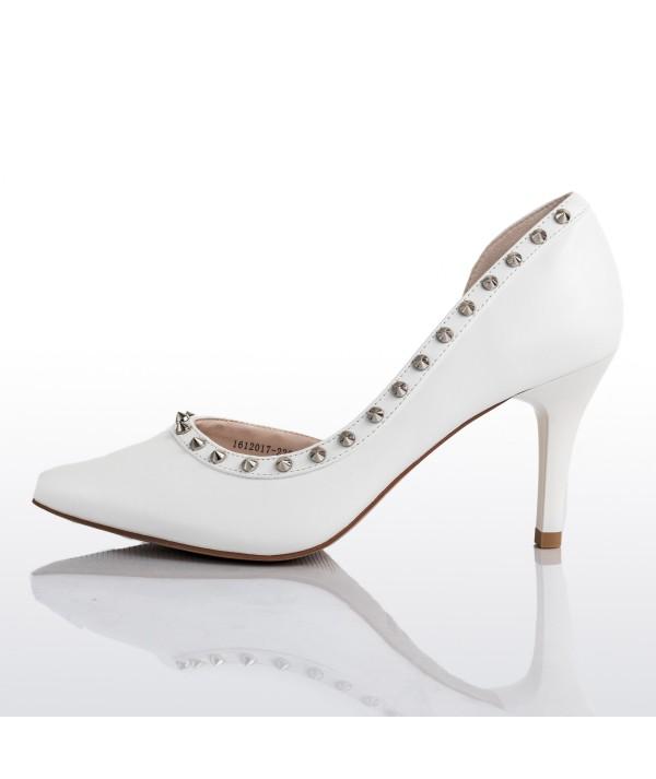 Anais Studded White D'Orsays