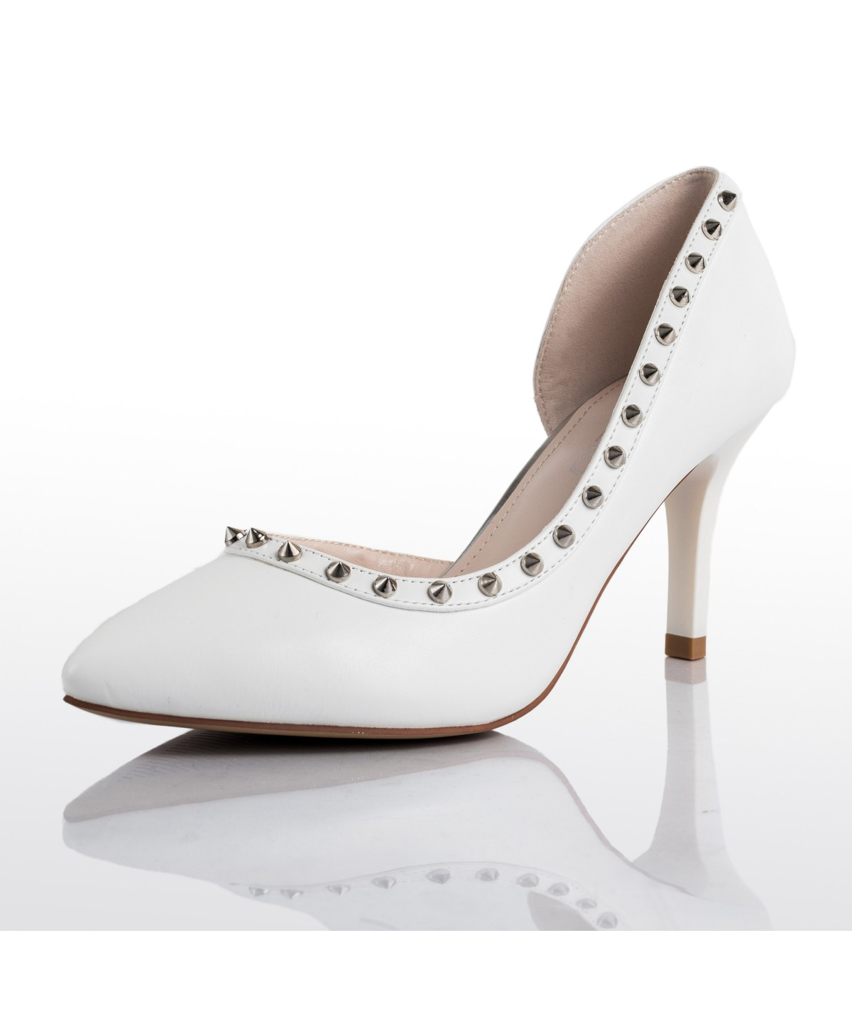 Anais Studded White D'Orsays