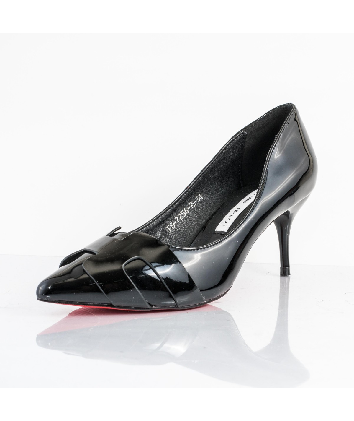 Nerissa Color Black Material Patent Leather Size 34, 220cm